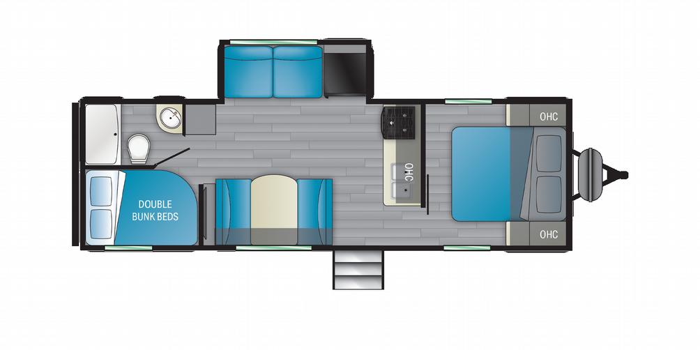 Prowler 262BH Floor Plan - 2021