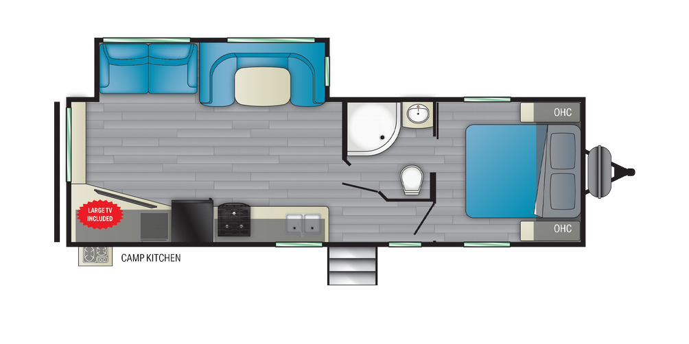 Prowler 276RE Floor Plan - 2021