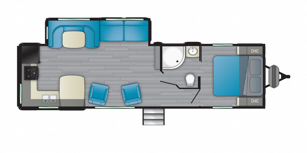 Prowler 280RK Floor Plan - 2021