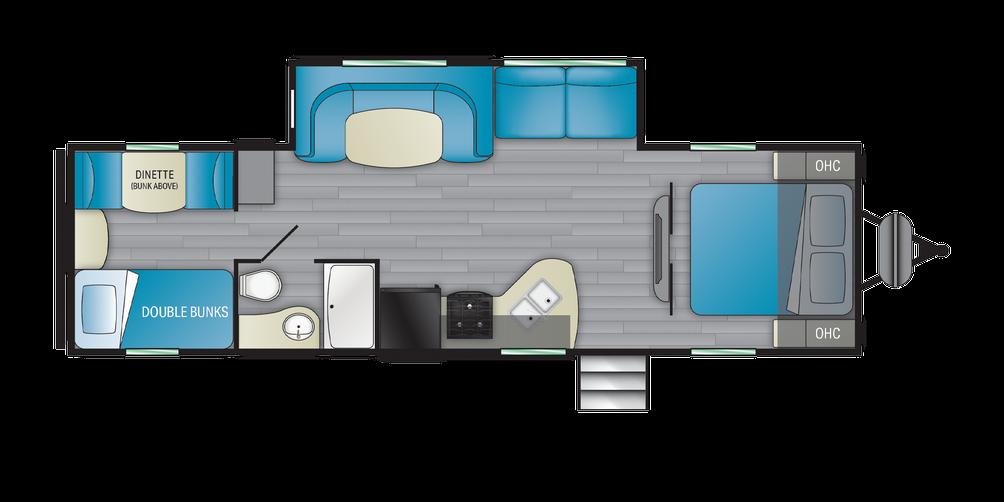 Prowler 300BH Floor Plan - 2021