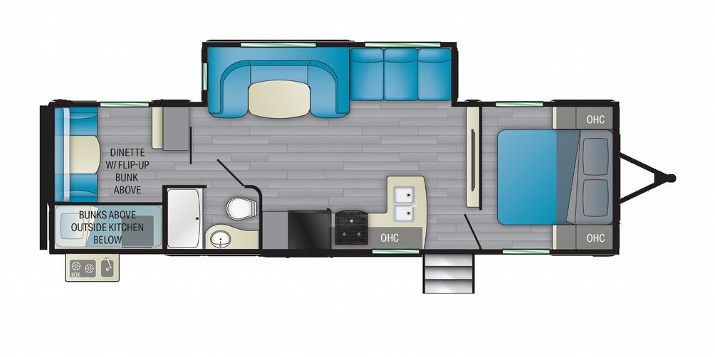 Prowler 303BH Floor Plan - 2021