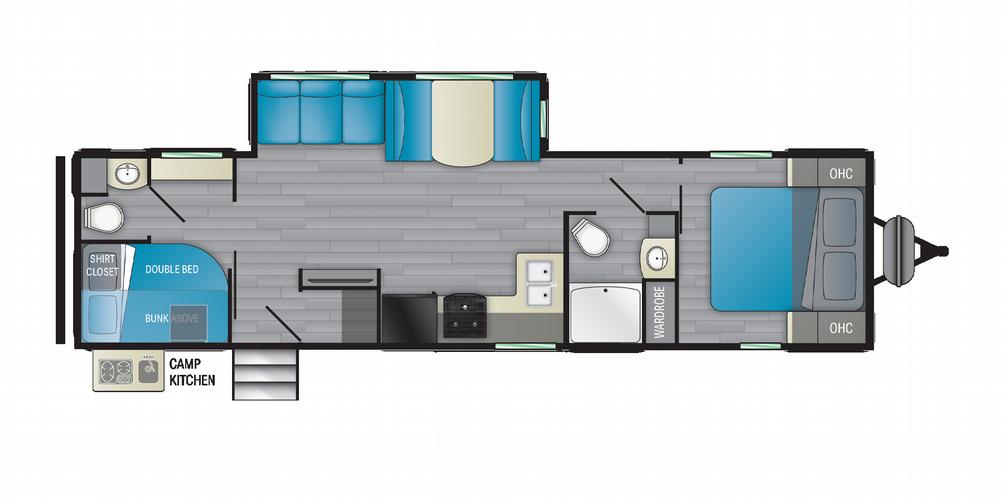 Prowler 315BH Floor Plan - 2021