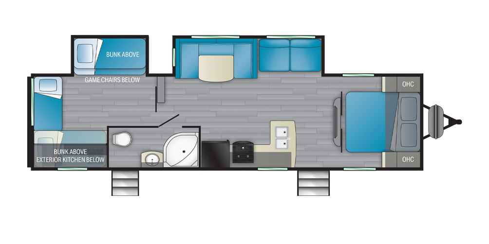 Prowler 320BH Floor Plan - 2021