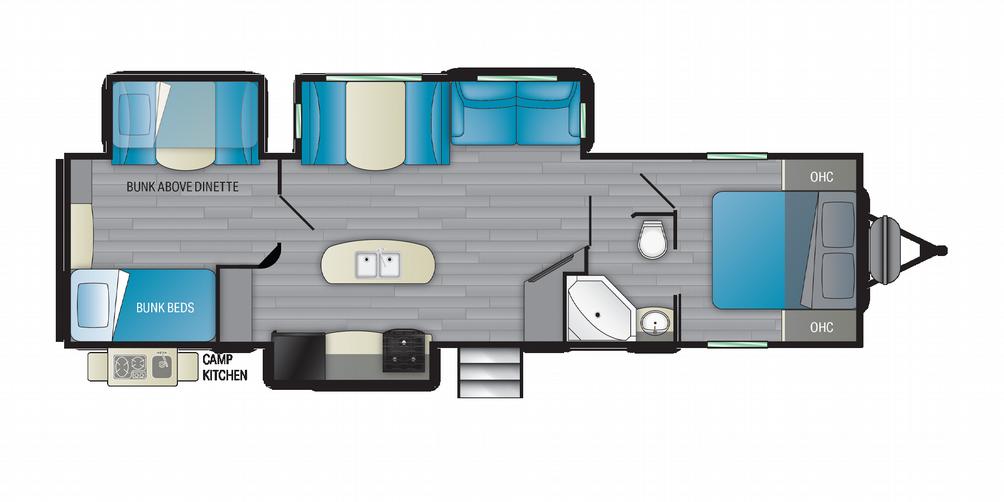 Prowler 330BH Floor Plan - 2021