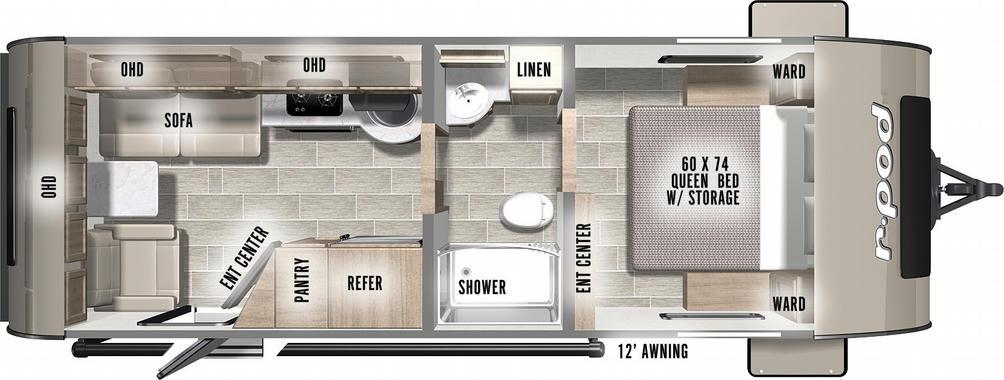R-Pod 201 Floor Plan - 2021