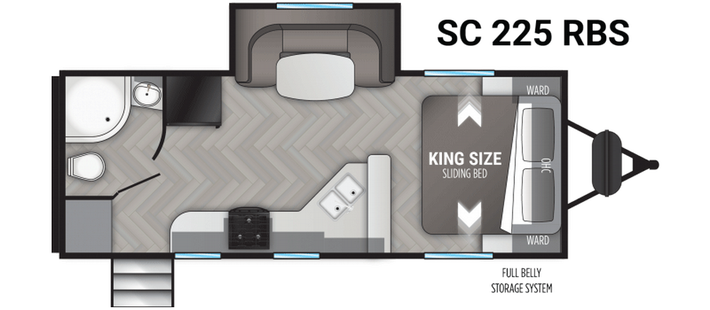 Shadow Cruiser 225RBS Floor Plan - 2021