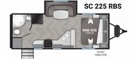 Shadow Cruiser 225RBS Floor Plan - 2021