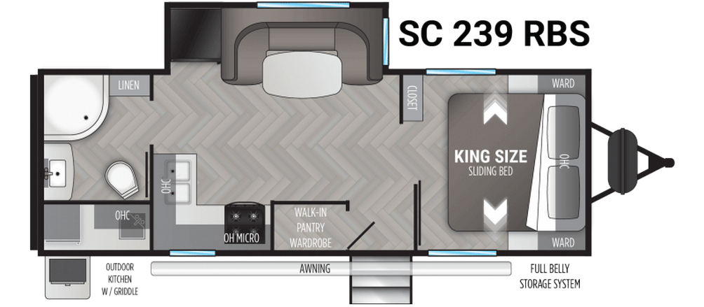 Shadow Cruiser 239RBS Floor Plan - 2021