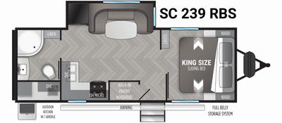 Shadow Cruiser 239RBS Floor Plan - 2021