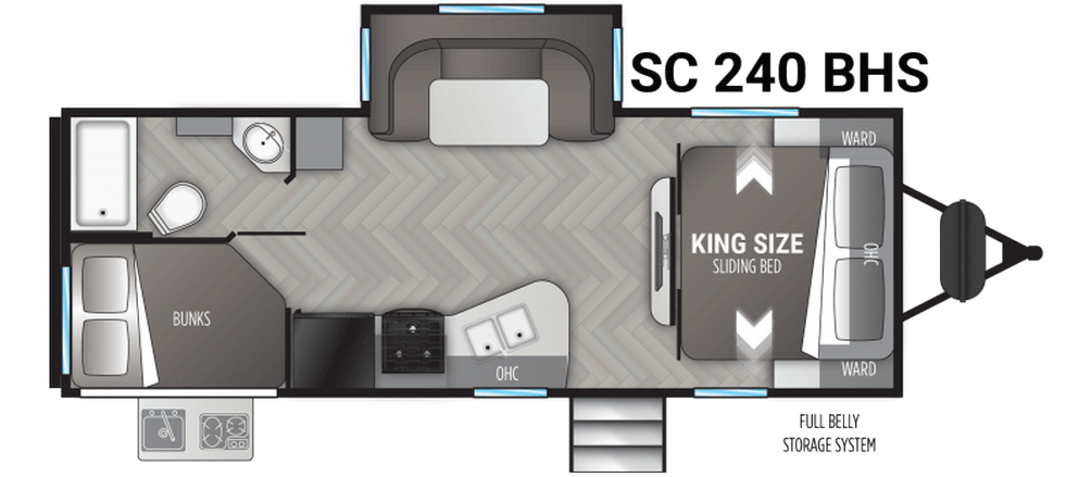 Shadow Cruiser 240BHS Floor Plan - 2021