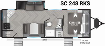 Shadow Cruiser 248RKS Floor Plan - 2021