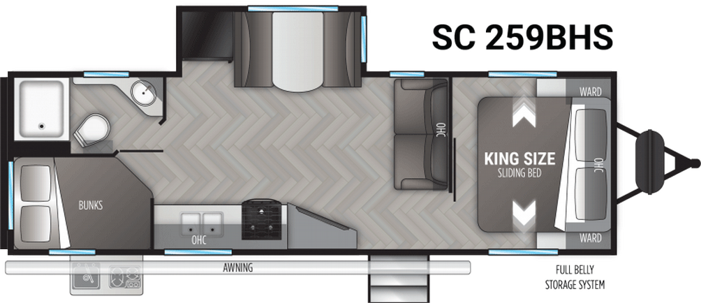 Shadow Cruiser 259BHS Floor Plan - 2021