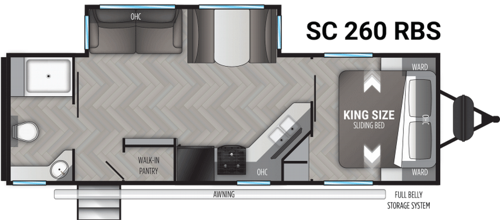 Shadow Cruiser 260RBS Floor Plan - 2021