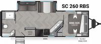 Shadow Cruiser 260RBS Floor Plan - 2021
