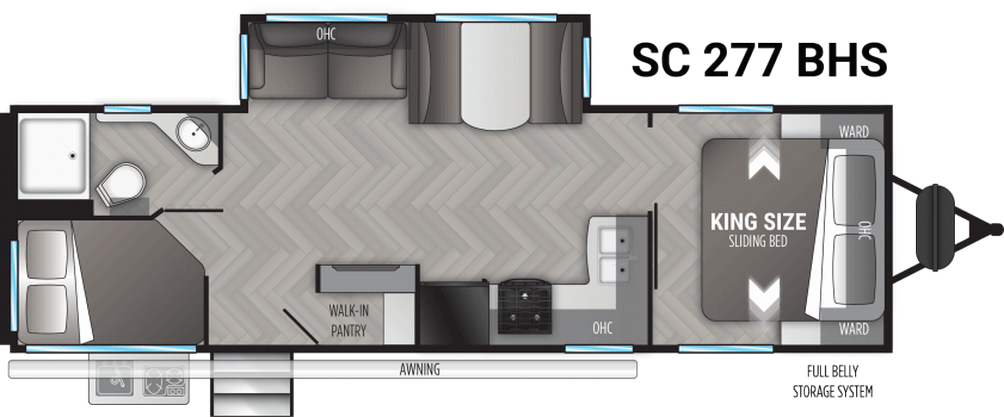 Shadow Cruiser 277BHS Floor Plan - 2021