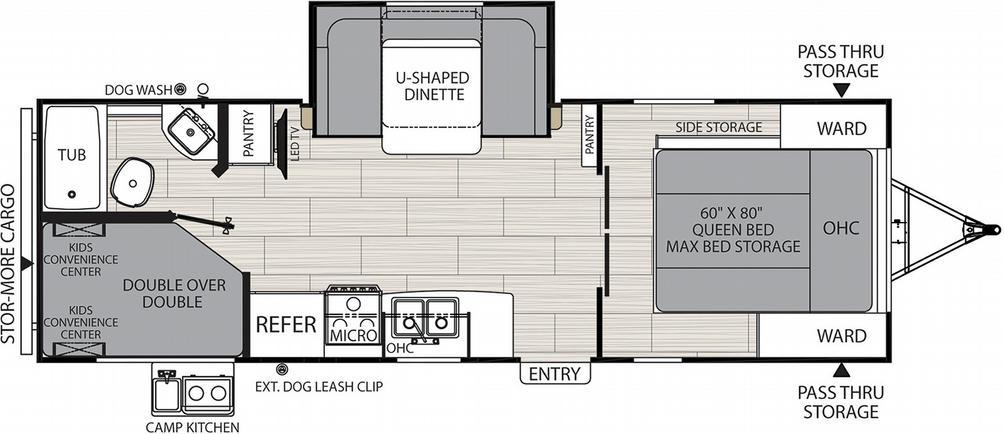 Spirit XTR 2549BHX Floor Plan - 2021