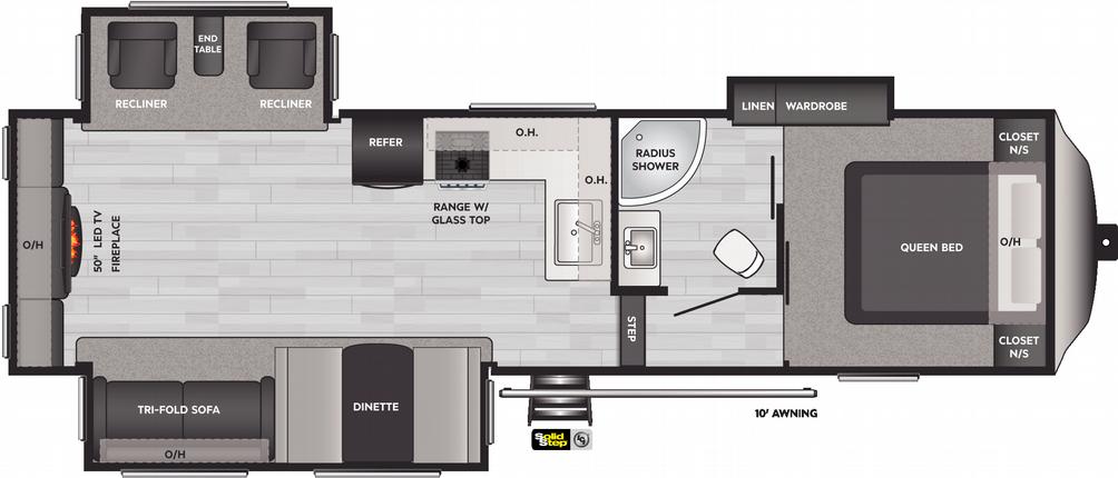 Springdale 253FWRE Floor Plan - 2021