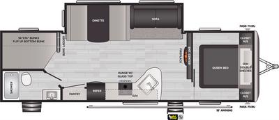 Springdale 282BH Floor Plan - 2021