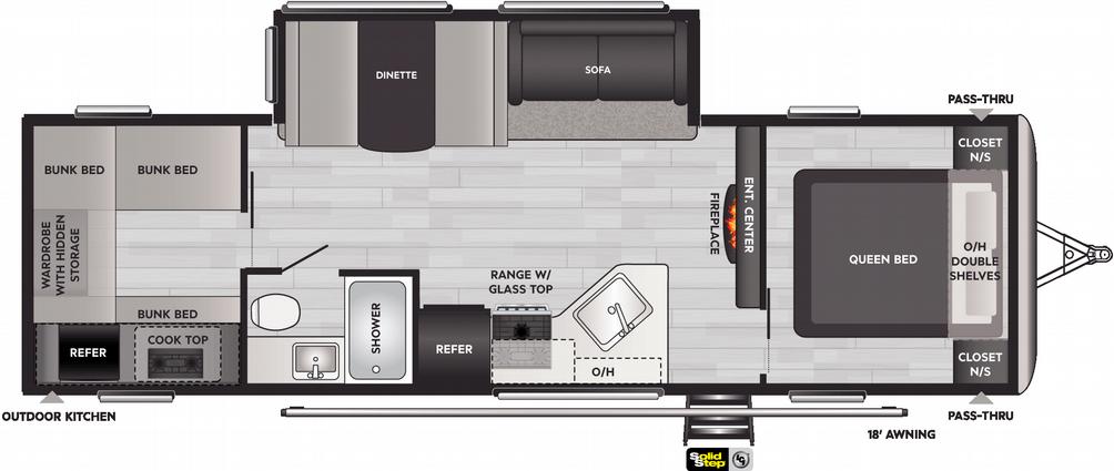 Springdale 298BH Floor Plan - 2021