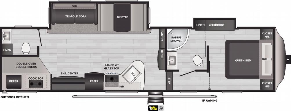 Springdale 300FWBH Floor Plan - 2021