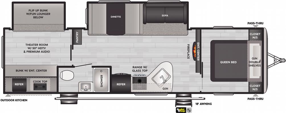 Springdale 301TR Floor Plan - 2021