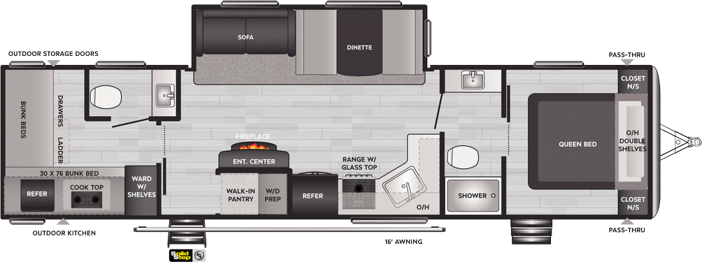 Springdale 335BH Floor Plan - 2021