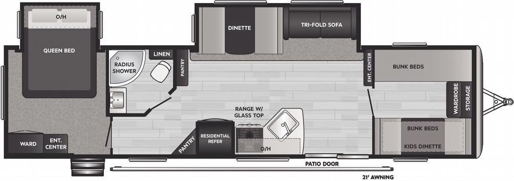 Springdale 38BH Floor Plan - 2021