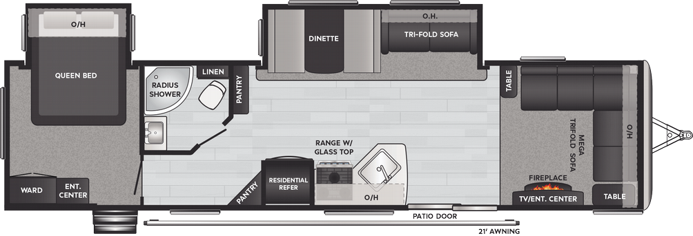 Springdale 38FL Floor Plan - 2021