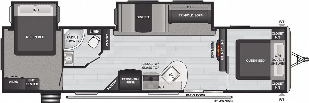 Springdale 38FQ Floor Plan - 2021