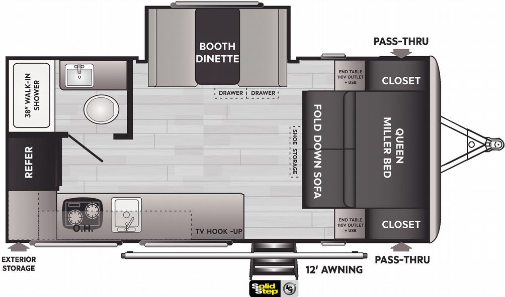 Springdale Mini 1740RK Floor Plan - 2021