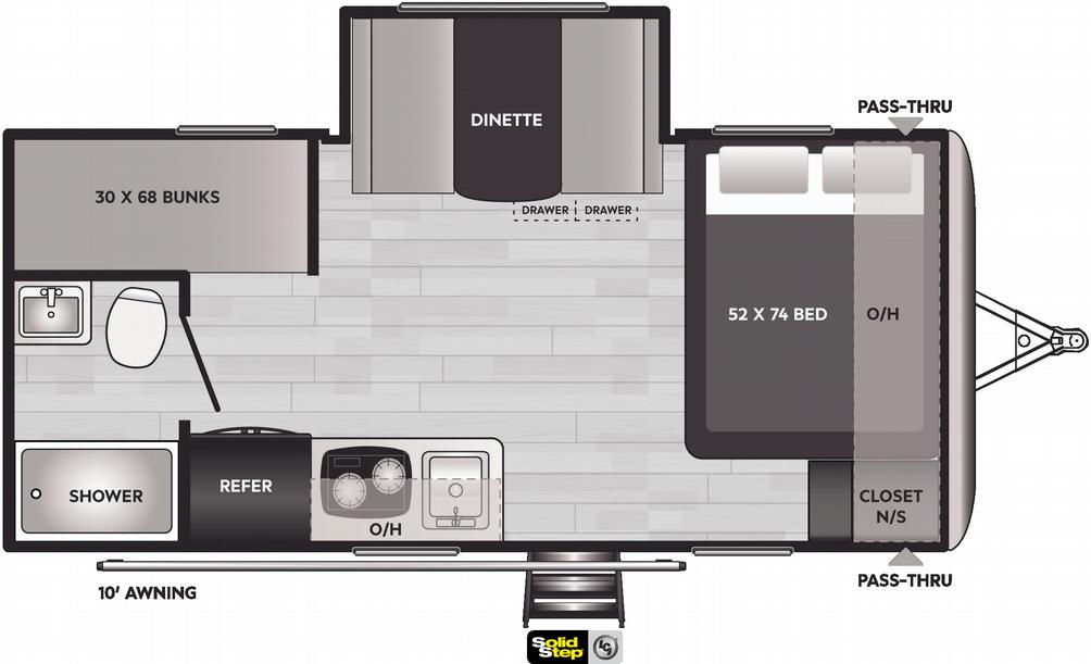 Springdale Mini 1760BH Floor Plan - 2021