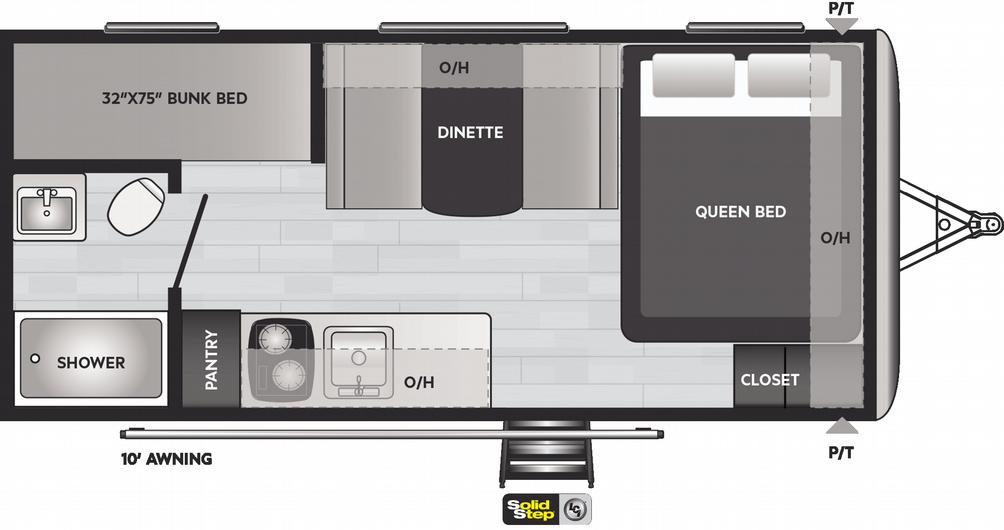 Springdale Mini 1800BH Floor Plan - 2021