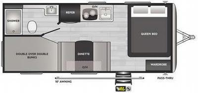 Springdale Mini 2010BH Floor Plan - 2021