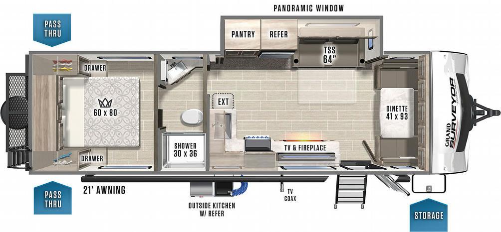 Surveyor Grand 272FLS Floor Plan - 2021