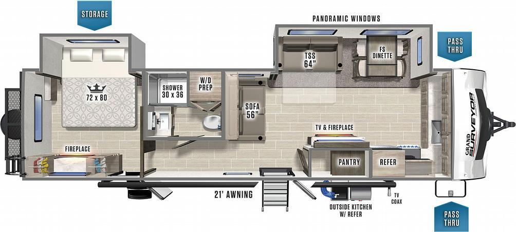 Surveyor Grand 301FKDS Floor Plan - 2021