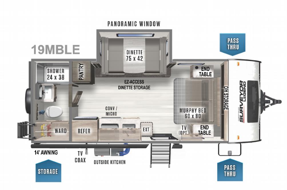 Surveyor Legend 19MBLE Floor Plan - 2022