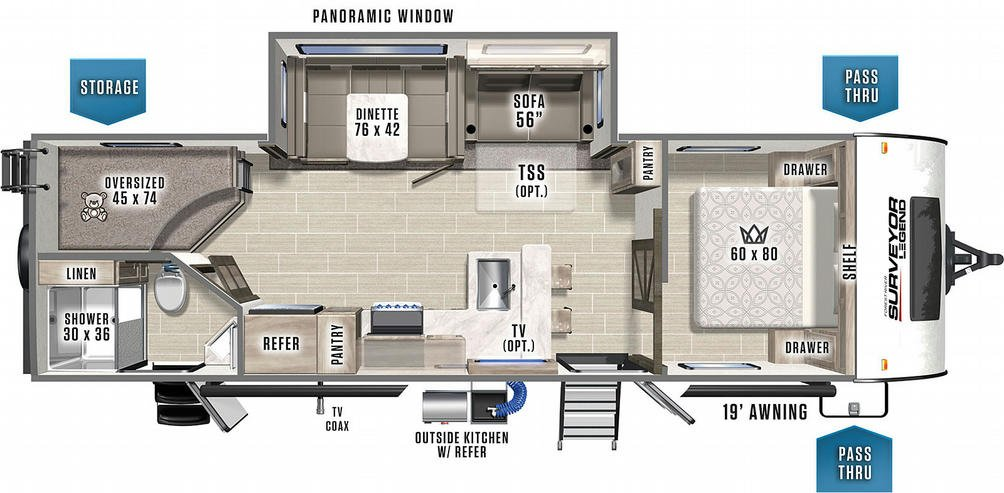 Surveyor Legend 276BHLE Floor Plan - 2021