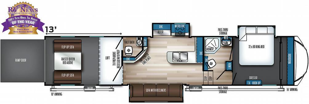 Vengeance Rogue Armored 351G2 Floor Plan - 2021