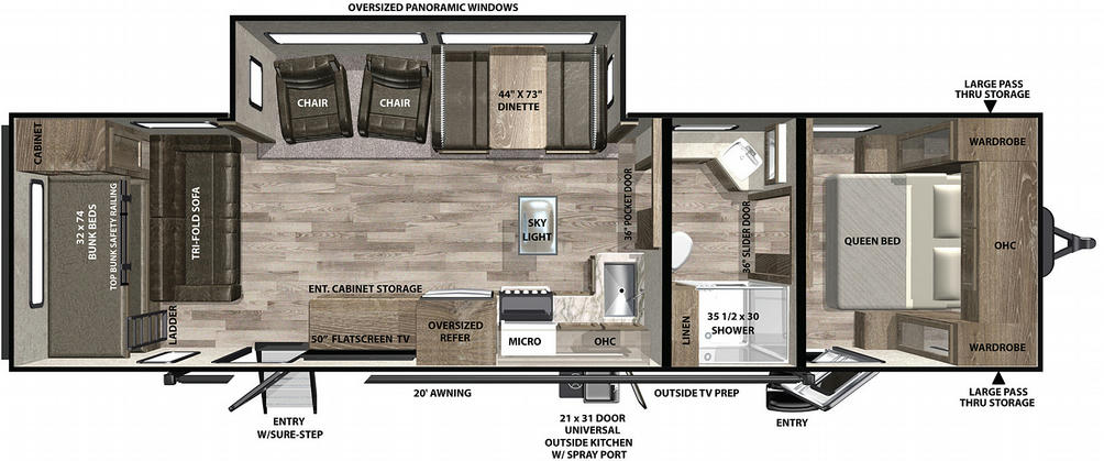 Vibe 32MS Floor Plan - 2021