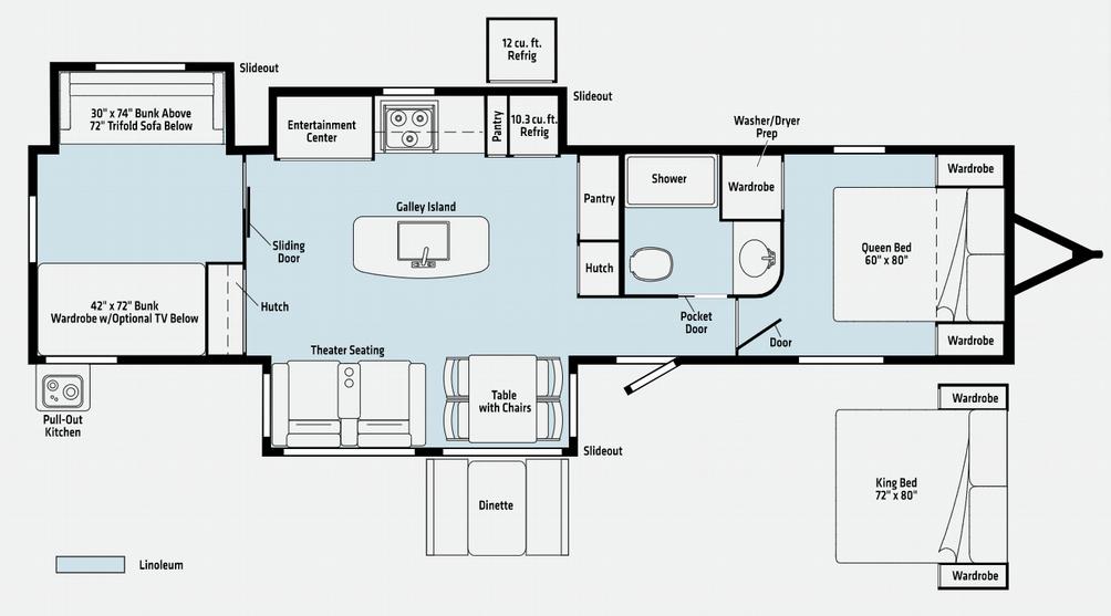 Voyage 3538BR Floor Plan - 2021