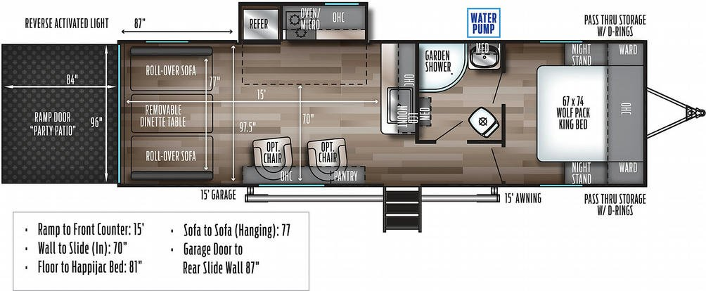 Wolf Pack 23GOLD15 Floor Plan - 2021