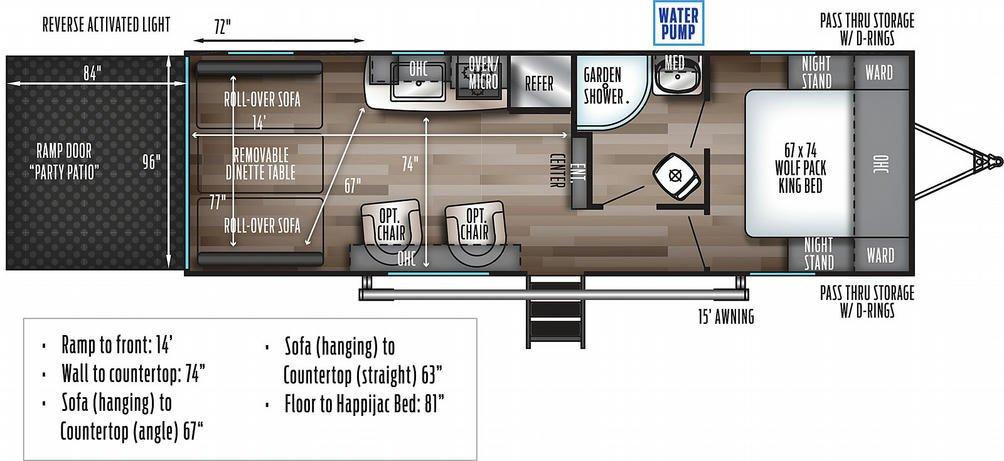 Wolf Pack 24GOLD14 Floor Plan - 2021
