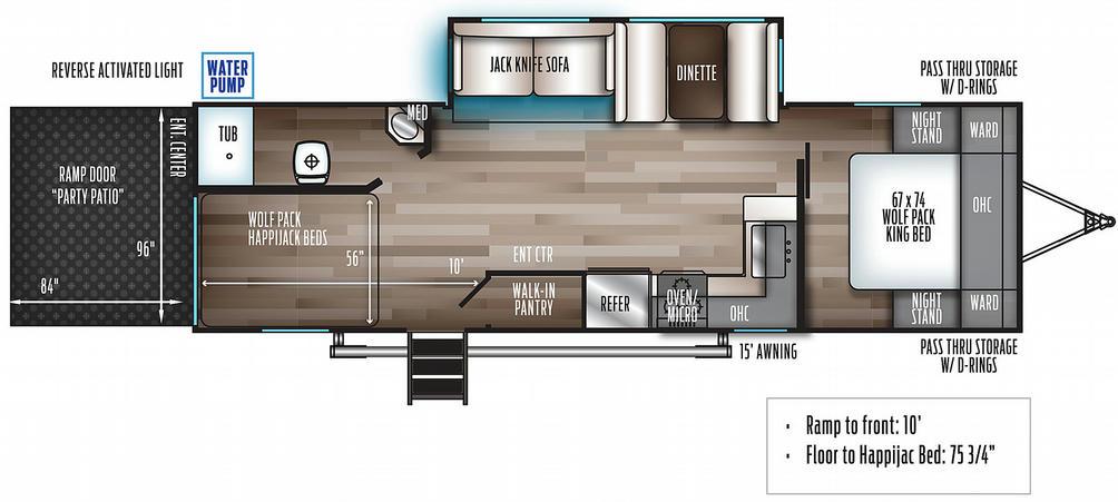 Wolf Pack 27GOLD10 Floor Plan - 2021