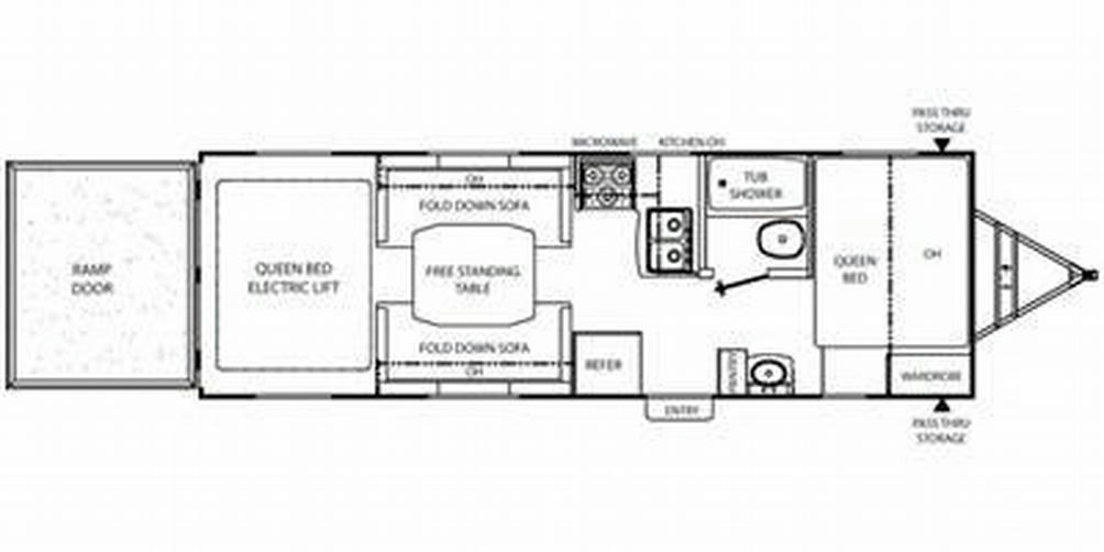 Freedom Express 260BL Floor Plan - 2010