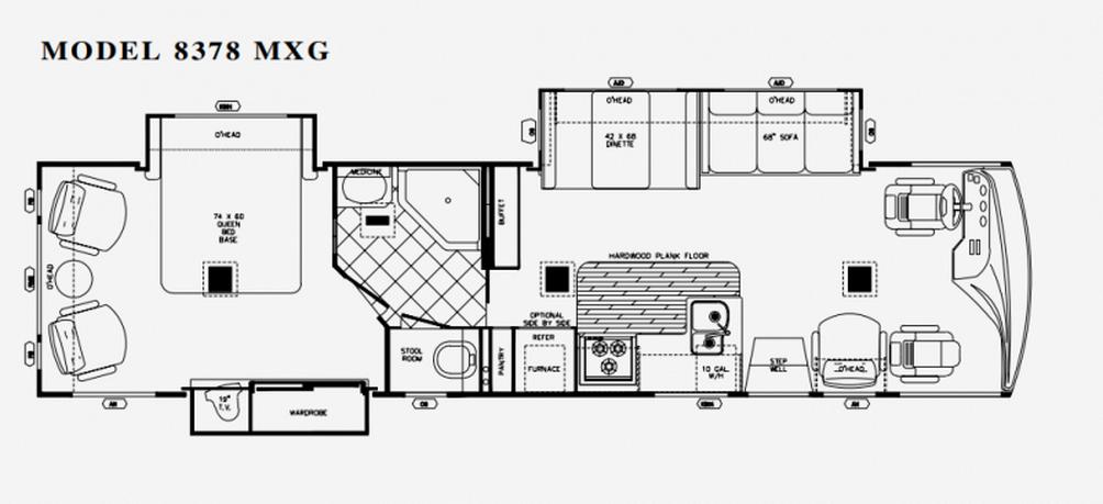 SUN VOYAGER 8378MXG Floor Plan - 2005