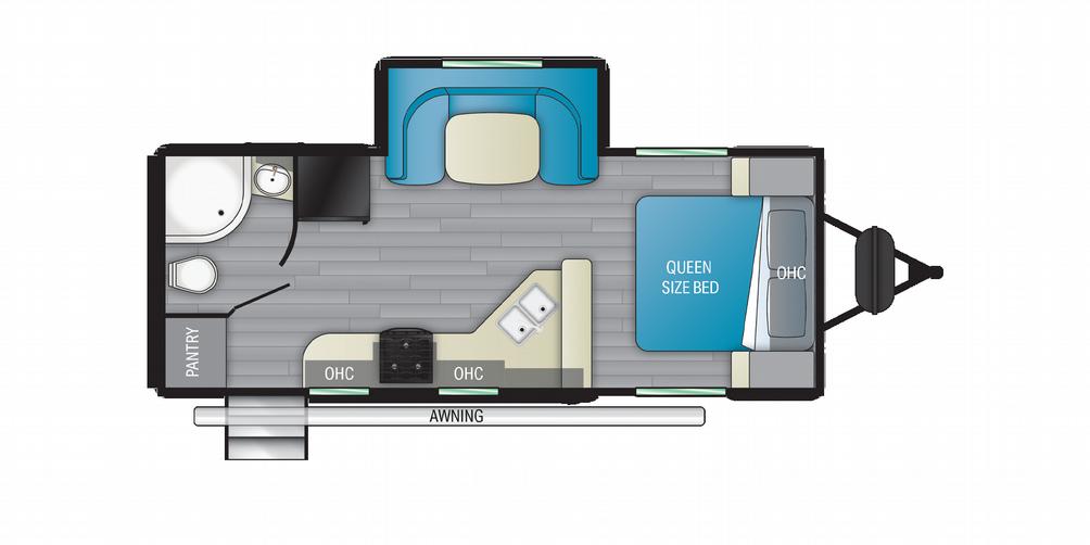 Sundance Ultra Lite 221RB Floor Plan - 2021