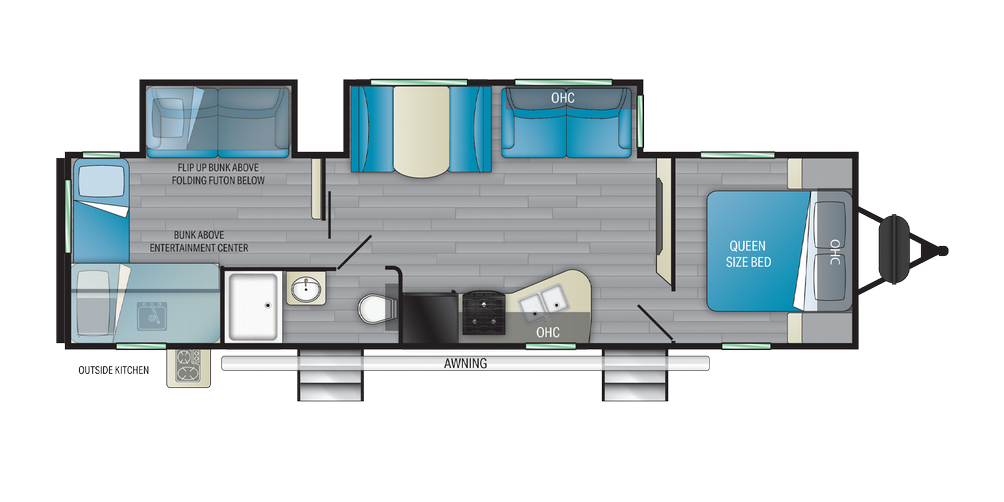 Sundance Ultra Lite 324BH Floor Plan - 2021