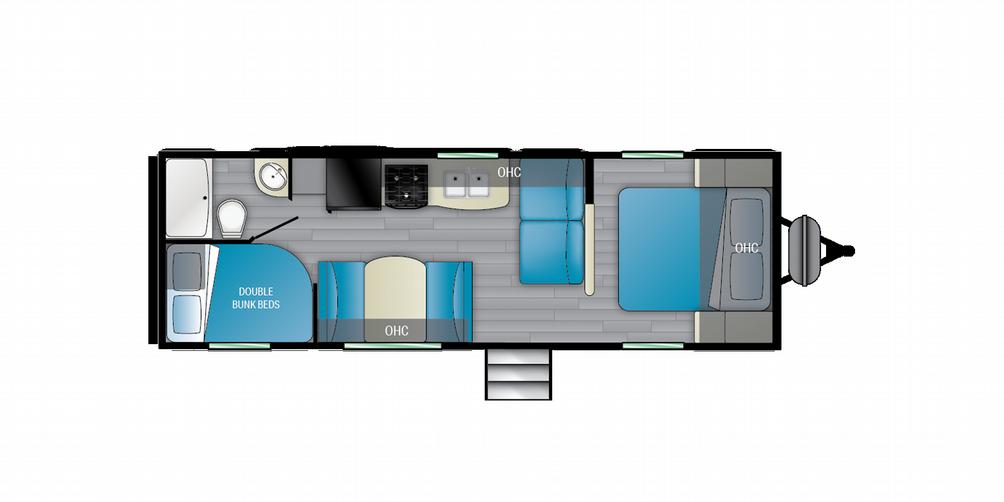 Trail Runner 251BH Floor Plan - 2021