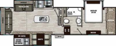 Chaparral 298RLS Floor Plan - 2021