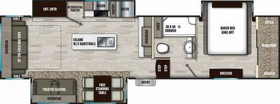 Chaparral 336TSIK Floor Plan - 2021